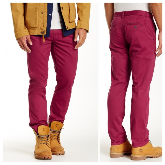 novel design latest selection of 2019 free delivery Timberland Thompson Lake beet red chinos