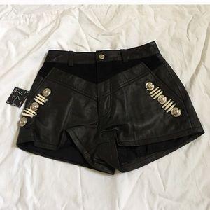 Nasty Gal leather shorts