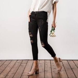🆕Ema Black Highrise Distressed Ankle Skinny Jeans