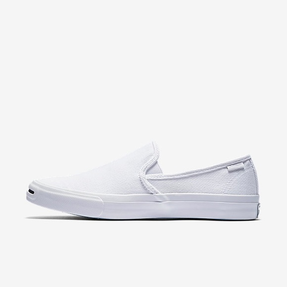 be866f2241d6 CONVERSE JACK PURCELL SLIP-ON WHITE SHOES Women s