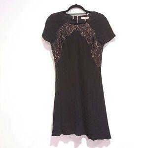 Rebecca Taylor womens black lace dress