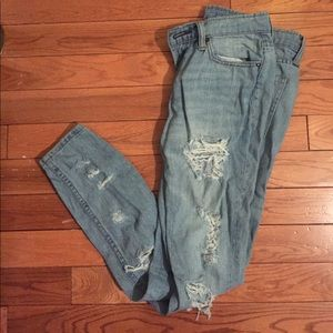 Urban Outfitters Ripped Light Wash Jeans