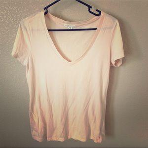 Forever 21 pink v neck everyday t shirt