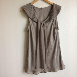 Lapis Brand Sleeveless Top. Taupe Size XL