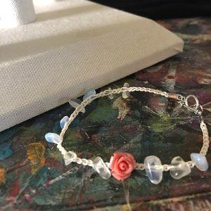 trigger hippies closet Jewelry - Opalite and petal bracelet