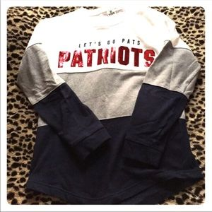 PINK sequined Pats pullover