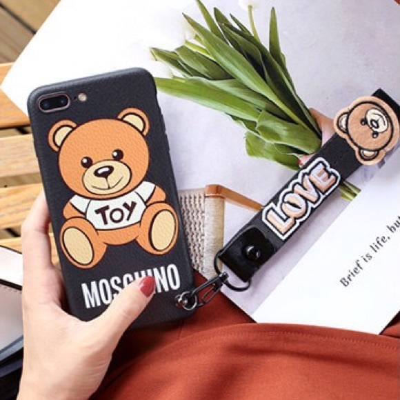 buy online 11163 a8b11 Moschino toy Bear iPhone 7 / 8 Plus phone case NWT