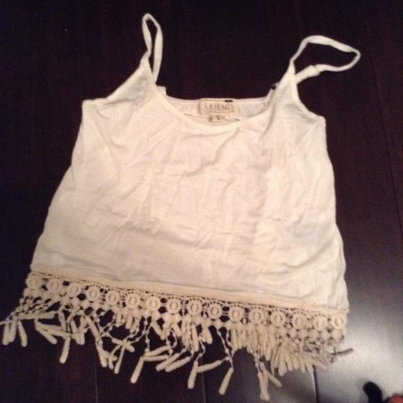 LA Hearts Tops - LA hearts Crochet tank