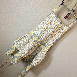 Other - Grey white yellow peplum apron