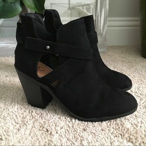 Shoes - ONE DAY SALE / Black Cutout Ankle Booties