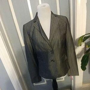 Loft Business jacket grey white and grey pinstrip