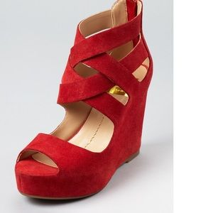 Preowned Dolce Vita Jude Suede Wedges Sandals 6.5