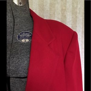 Sag Harbor Jackets & Coats - Sag Harbor plus size red wool blazer.