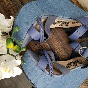Shoes - Blue denim wedges