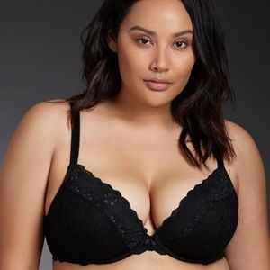 Torrid Lace Push-Up Plunge Bra