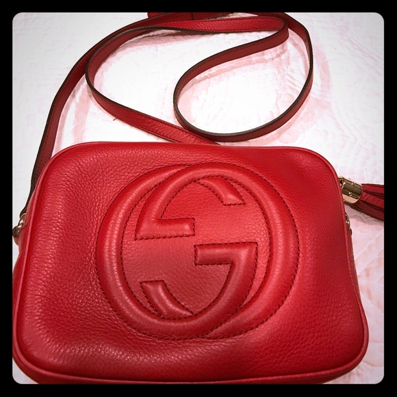 678264ce040e Gucci Handbags - Authentic Gucci Soho disco bag (Red)