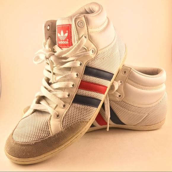 42d3d53bdd0 adidas Other - Adidas - Old School Classic Stripe High Tops 9.5