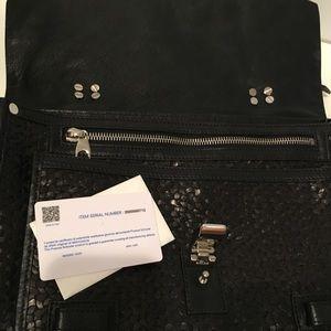 Proenza Schouler Woven Black  Leather Bag