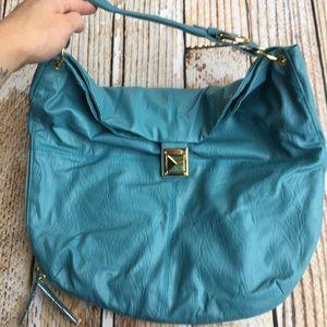 NEW Avon Mark. faux leather blue hobo bag