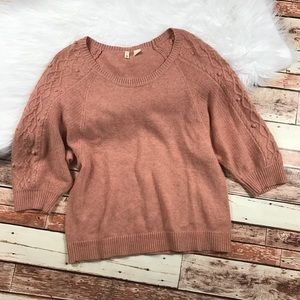 Moth light pink knit Pom Pom sweater