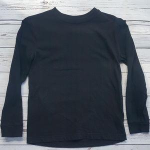 4/$25 Old Navy black long sleeved henley shirt