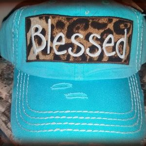 Accessories - BLESSED Turquoise and animal print hat