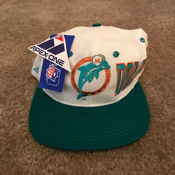 938ce6d2 Vintage Apex One Miami Dolphins Adjustable Hat Boutique