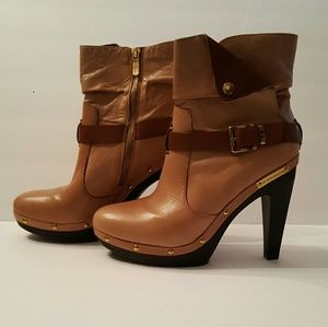 BCBGeneration Leather Meesa Ankle Booties