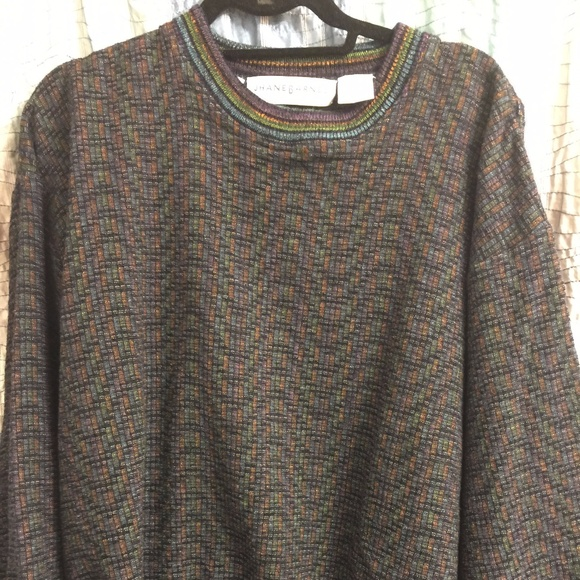 Jhane Barnes Other - Jhane Barnes mens multicolored sweater