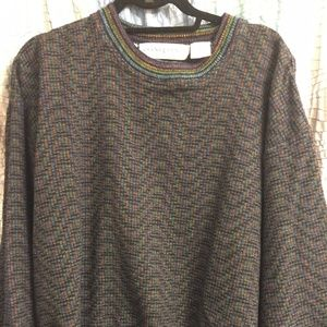 Jhane Barnes Sweaters - Jhane Barnes mens multicolored sweater