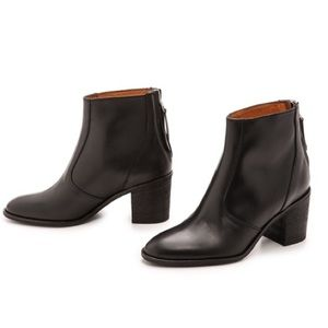 Madewell Black Leather Ames Ankle Boots