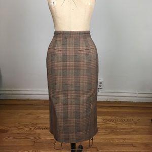 Liz Claiborne Elisabeth Plaid Fitted Pencil Skirt