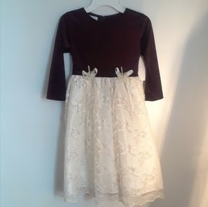 Other - Velveteen & Lace Dress Size 8