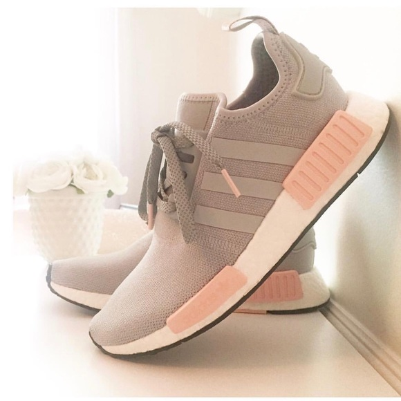 3c5d012021a6f Limited Edition Adidas NMD R1 Grey   Vapour Pink