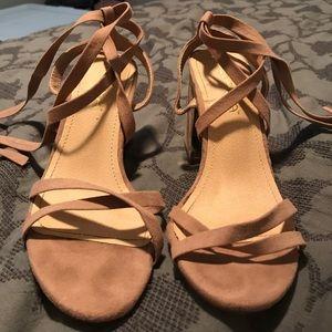 1a770e9ba1 Lulu s Shoes - Alisa Mauve Suede Lace-up Heels