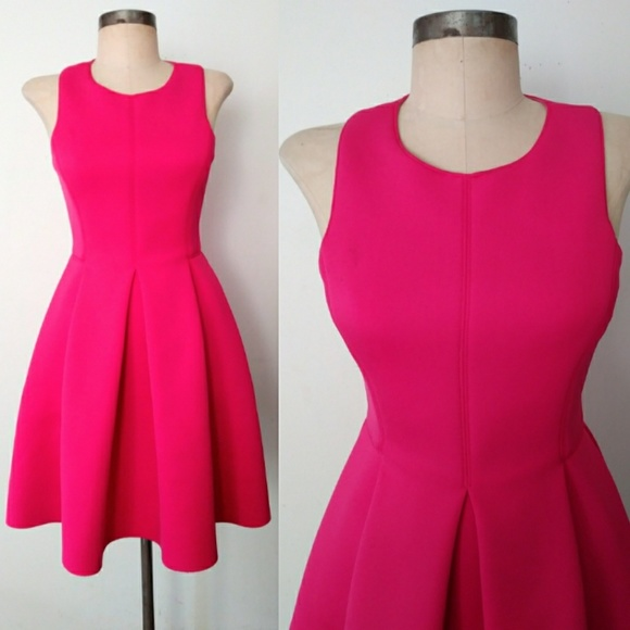 25b2e52fcd Electric Pink Bright Tibi Neoprene Party Dress 2. M 59fbbe55bf6df50dc80194ee