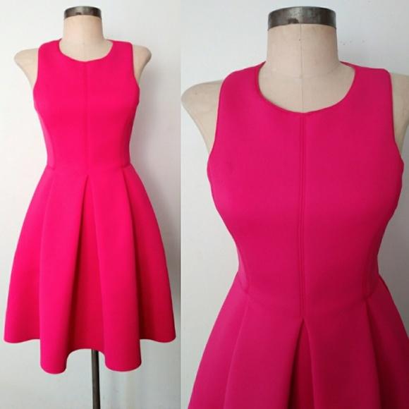f504b5b1a14 Electric Pink Bright Tibi Neoprene Party Dress 2. M 59fbbe55bf6df50dc80194ee