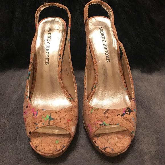 492ebfbd3c Audrey Brooke Shoes - Audrey Brooke cork heel