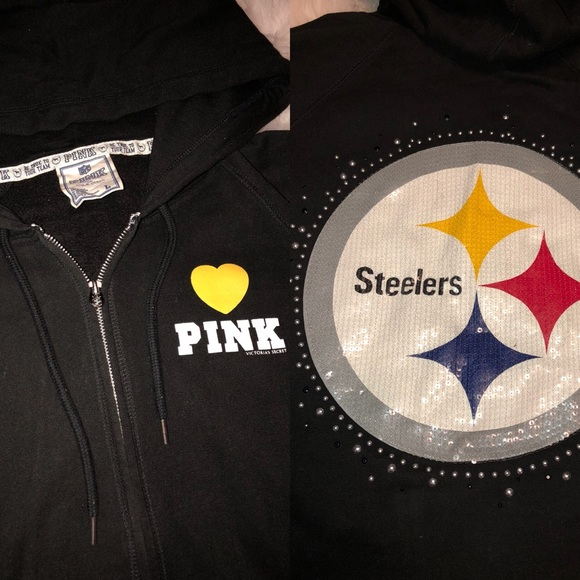 new product f011b 7007e Victoria's Secret Sequin Steeler Hoodie