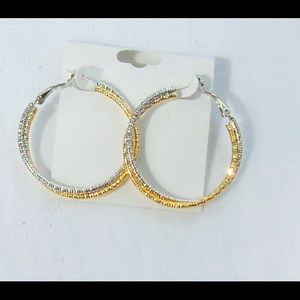Jewelry - Two tone hoops