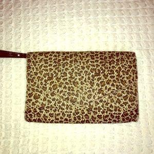 Handbags - Leopard Print Envelope Clutch