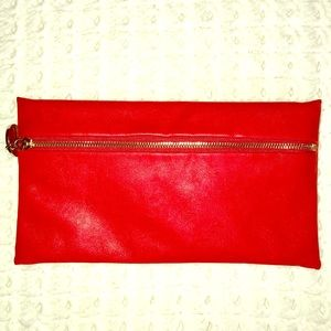 Handbags - The Limited Red Clutch