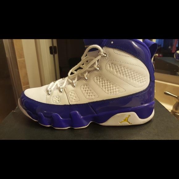 Air Jordan Retro 9s La Lakers Color
