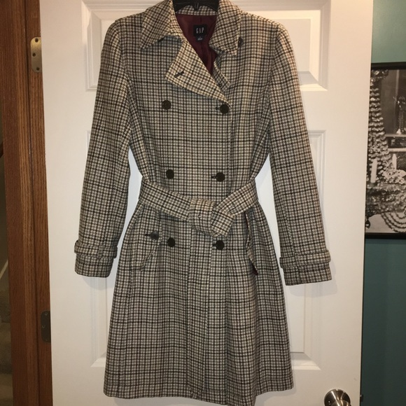 1c488120b7a GAP Jackets   Blazers - GAP plaid double breasted trench coat