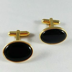 Other - Black Oval Cuff Links