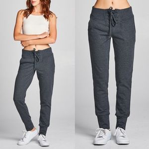 JENNIE Jogger Pants   CHARCOAL