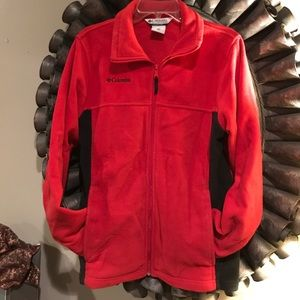 Columbia youth jacket , red