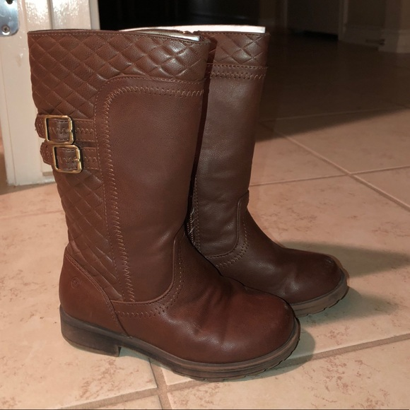 Toddler Girl Brown Rider Boots