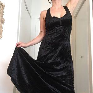 🖤 Black Crushed Velvet Dress 🖤