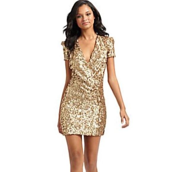fb3d6fbc French Connection Dresses | Gold Sequin Dress | Poshmark